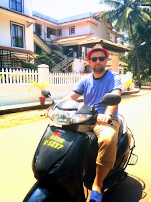 bike riding in Goa, escaping the American Dream