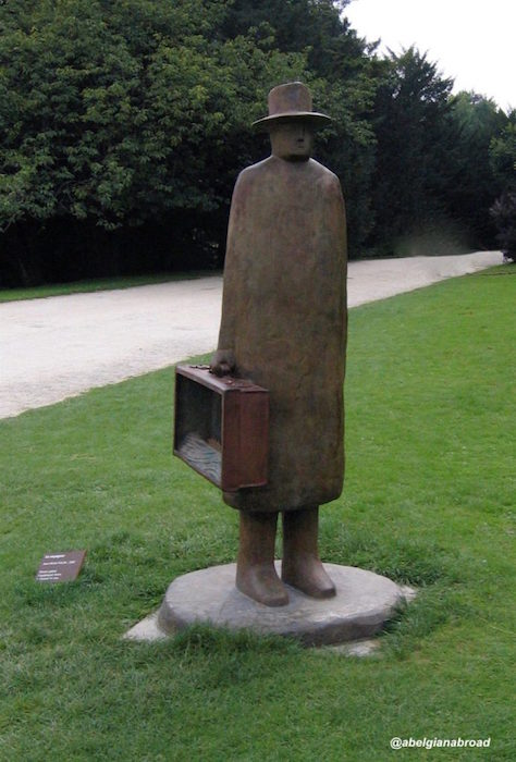 Sculpture by Belgian artist Folon. Pack your life and go discover the world.