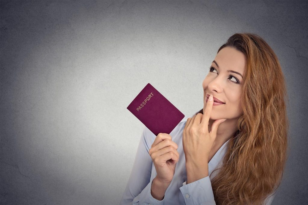 girl with passport